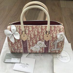 Christian Dior girly flower Boston bag